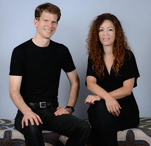 Das Team von karpet: Klaus Kukovetz und Miranda Kaloudis
