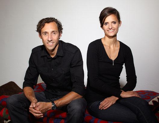 Das Team von karpet: Roger Renggli und Noemi Haag